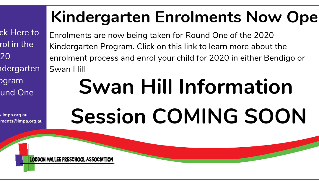 Swan Hill Information Session for Kindergarten 2020 Enrolments